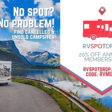 Save 20% off RVSpotDrop Membership with Coupon Code