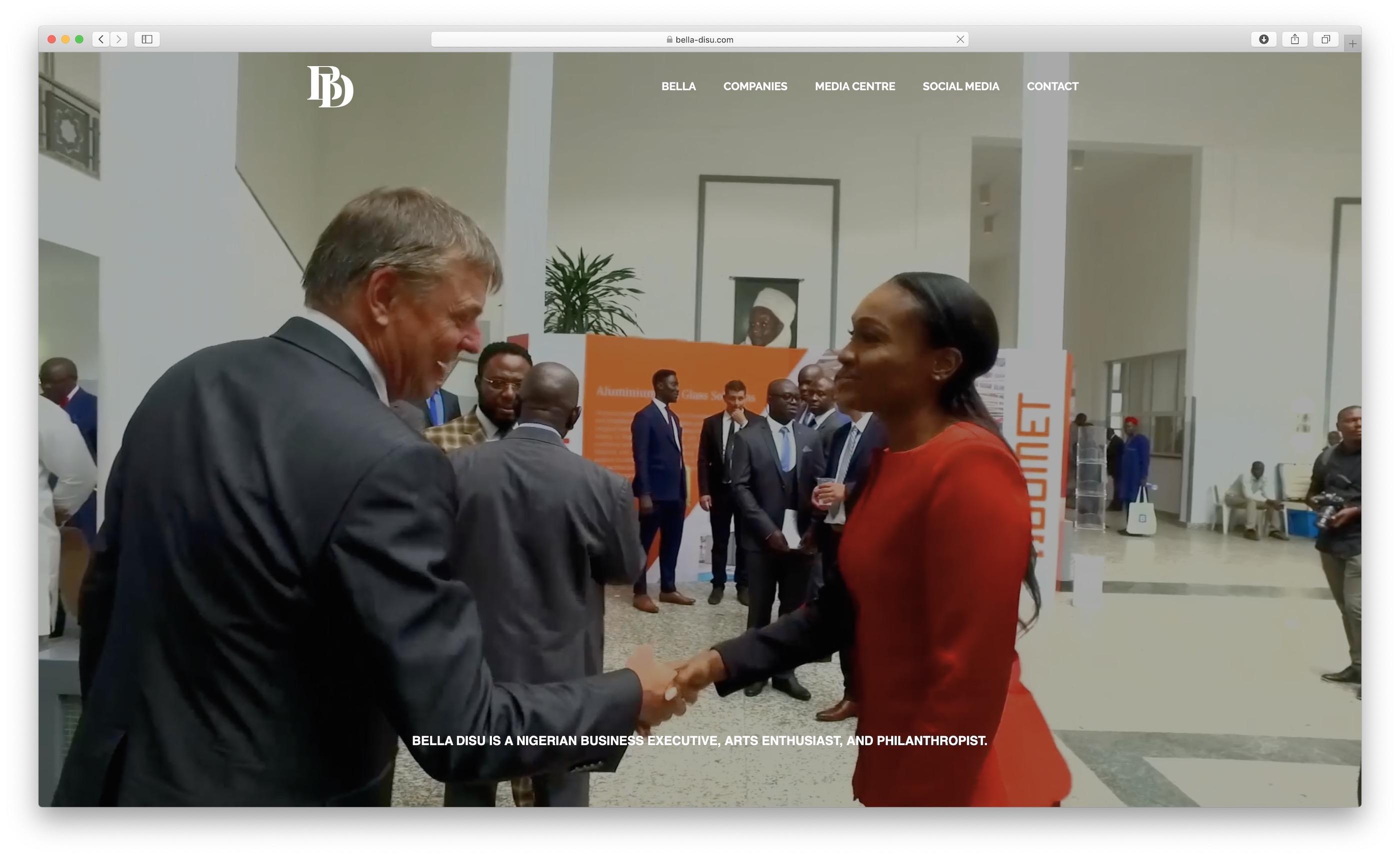 Bella Disu Website Screenshot