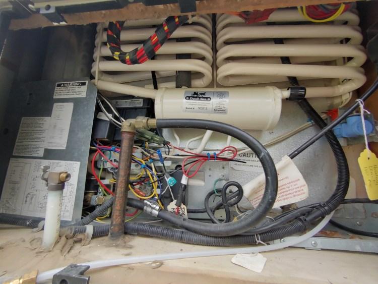RV absorption refrigerator coils.