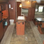 Inside of travel trailer