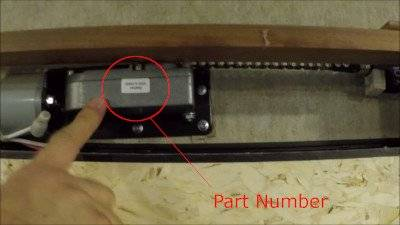 picture of BAL Accu-Slide Gear Box showing location of part number