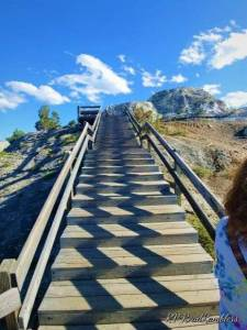 Picture of stairway at Mammoth Hot Springs in Yellowstone National Park