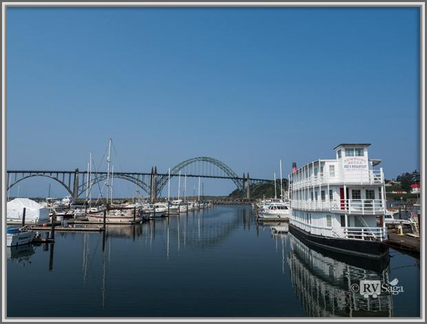 Yaquina Bay Bridge and Marina