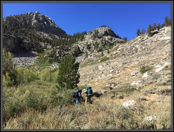 Backpackers Heading Into John Muir Wilderness