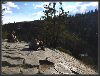 Top of Devil's Postpile. Mammoth Lakes, California