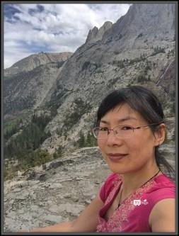 Weiwei In Front of Carson Peak