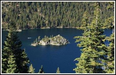 Fannette Island on Lake Tahoe. California