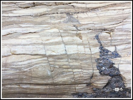 Layers on Marble. Mosaic Canyon, Death Valey, California