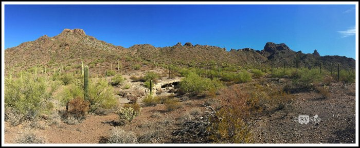 Panoramic View of Picacho Peak Mountain