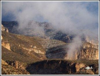 Sacramento Mountains in Clouds