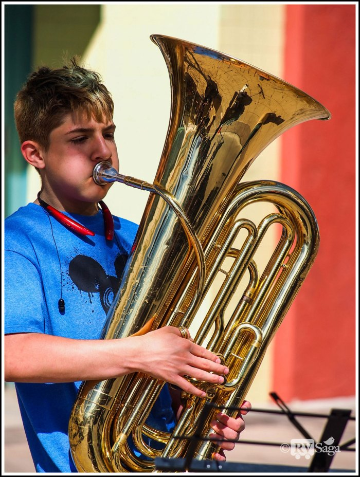 A Young Tuba Player