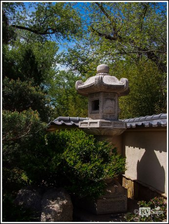 A Stone Lamp in Japanese Garden