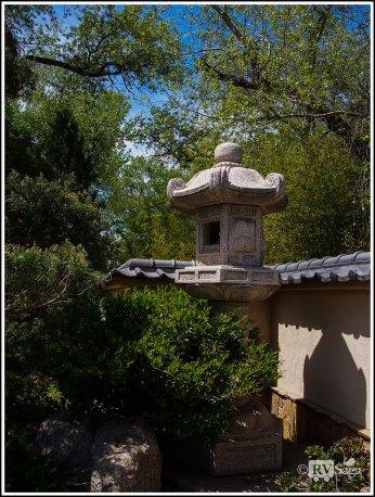 A Stone Lamp in Japanese Garden
