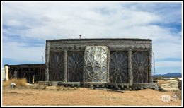 Exterior of An Earthship Biotexture