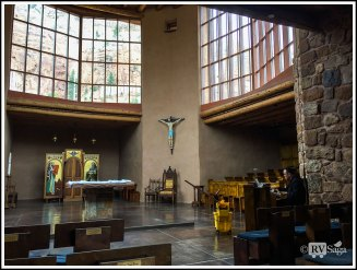 Interior of Christ of the Desert Monastery. New Mexico