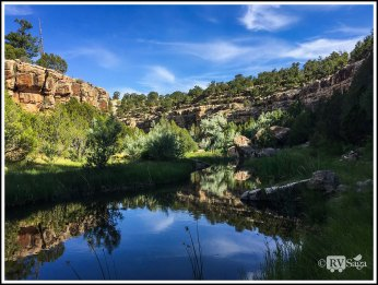 An Oasis in Bluewater Canyon. Bluewater State Park. New Mexico