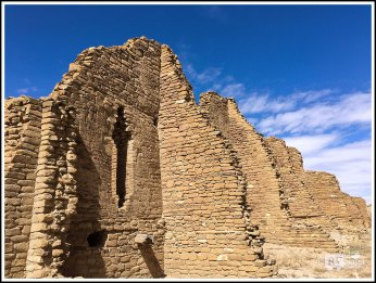 Broken Walls of Kin Kletso. Chaco Canyon, New Mexico