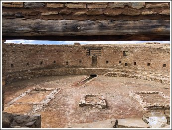 Great Kiva at Casa Rinconada. Chaco Canyon, New Mexico