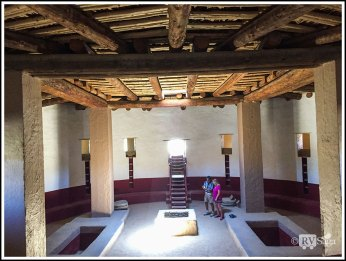 Interior of Aztec Great Kiva