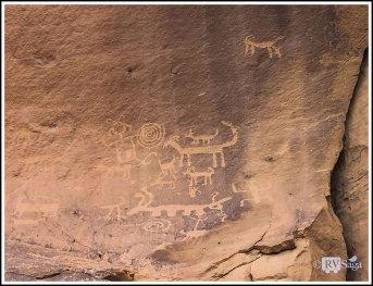 Petroglyph at Una Vida. Chaco Canyon, New Mexico