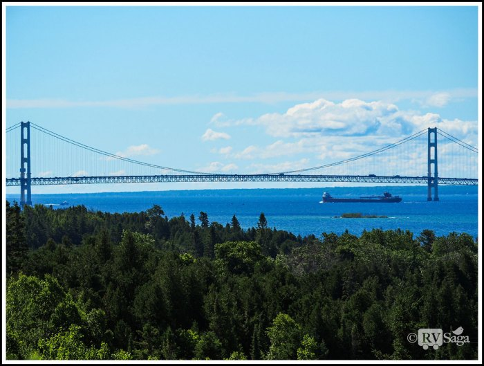 Mackinac-Bridge-and-A-Freighter
