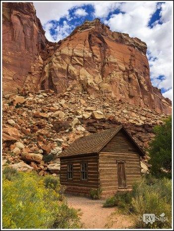 An Old Schoolhouse at Capital Reef National Park. Utah