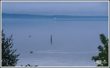 Ashland Breakwater Light Lighthouse on Lake Superior