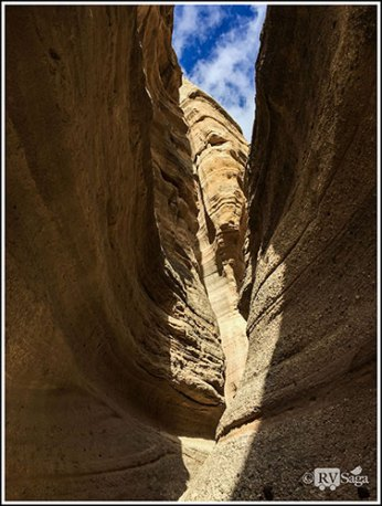 A Patch of Sky Above Slot Canyon. Kasha-Katuwe Tent Rocks National Monument. New Mexico