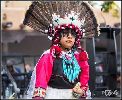 A Dancing Zuni Boy in Turkey Costume