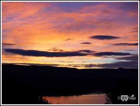 Dawn Above Cochiti Lake. New Mexico
