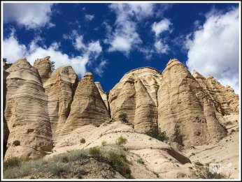Tent Rocks on Hillside. Kasha-Katuwe Tent Rocks National Monument