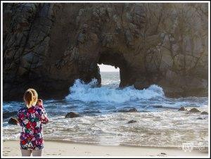 Girl Taking Photos of Pfeiffer Beach