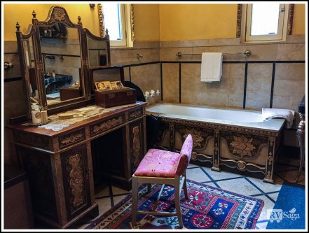 Bathroom in the Guest Cottage at Hearst Castle