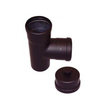 EW 100 1,2 mm T-stuk 90 graden MxFxF met kondensdop