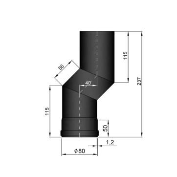 EW 80 1,2 mm verslepingselement 40 mm