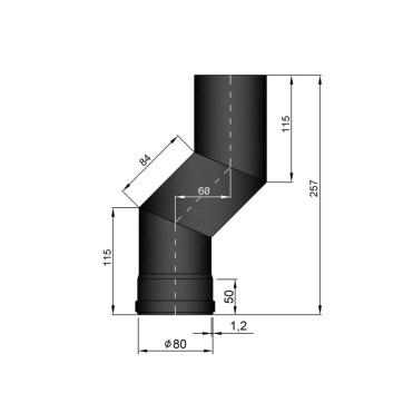 EW 80 1,2 mm verslepingselement 60 mm