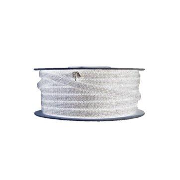 Glasvezelkoord rond 06 mm rol 100 meter wit
