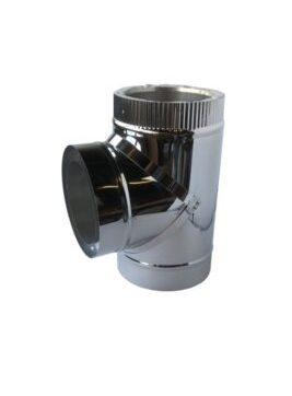 Isotube Plus 150x200 T-stuk 90 graden met dop ZWART