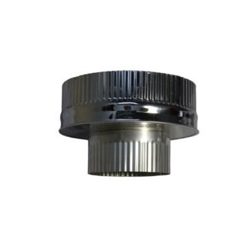 Isotube Plus 150x200 onderaansluitstuk naar 130 mm ZWART