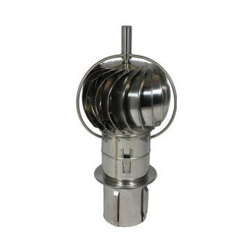Turbowent draaikap met uitwendige lagers (insteek, 150 mm)