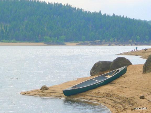 John and Nicki's canoe