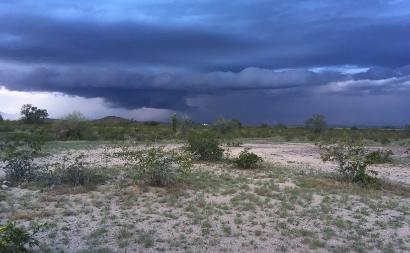 The Full Trio – and a dust storm!