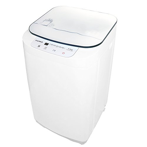 kapas kps35-735h2 upgraded compact washing machine top load tub washer 8 lbs capacity 8 lbs fully automatic 2-in-1 washer and spin dryer machine build-in pump and long hose