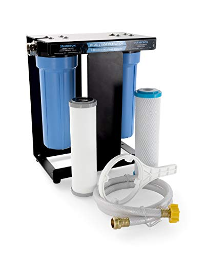 Camco 40639 A Rv Tastepure Dual Canister Water Filter Carbon Kdf Premium Filtration Long Life Expectancy Rv Motorhome Travel Trailer Camper Van Water Filtration System