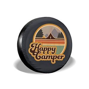 UU Spare Tire Cover Tire Cover Happy Halloween Polyester Universal Dust-Proof Waterproof Wheel Covers for Jeep Trailer Rv SUV Truck and Many Vehicles 15in