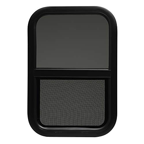 ToughGrade Vertical Sliding Black RV window 18 X 24 X 1 1//2 with Trim Kit and Bottom