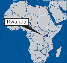 Rwanda-in-Africa-map