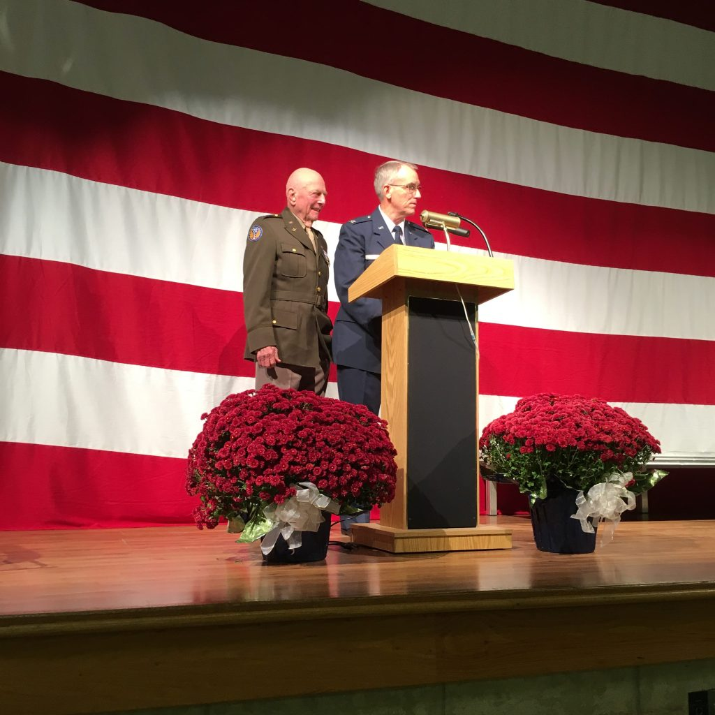 Col Richard Hutchins, USAF-Retired with Captain Jerry Yellin, USAAF-Veteran, Last WWII Fighter Pilot - 2015