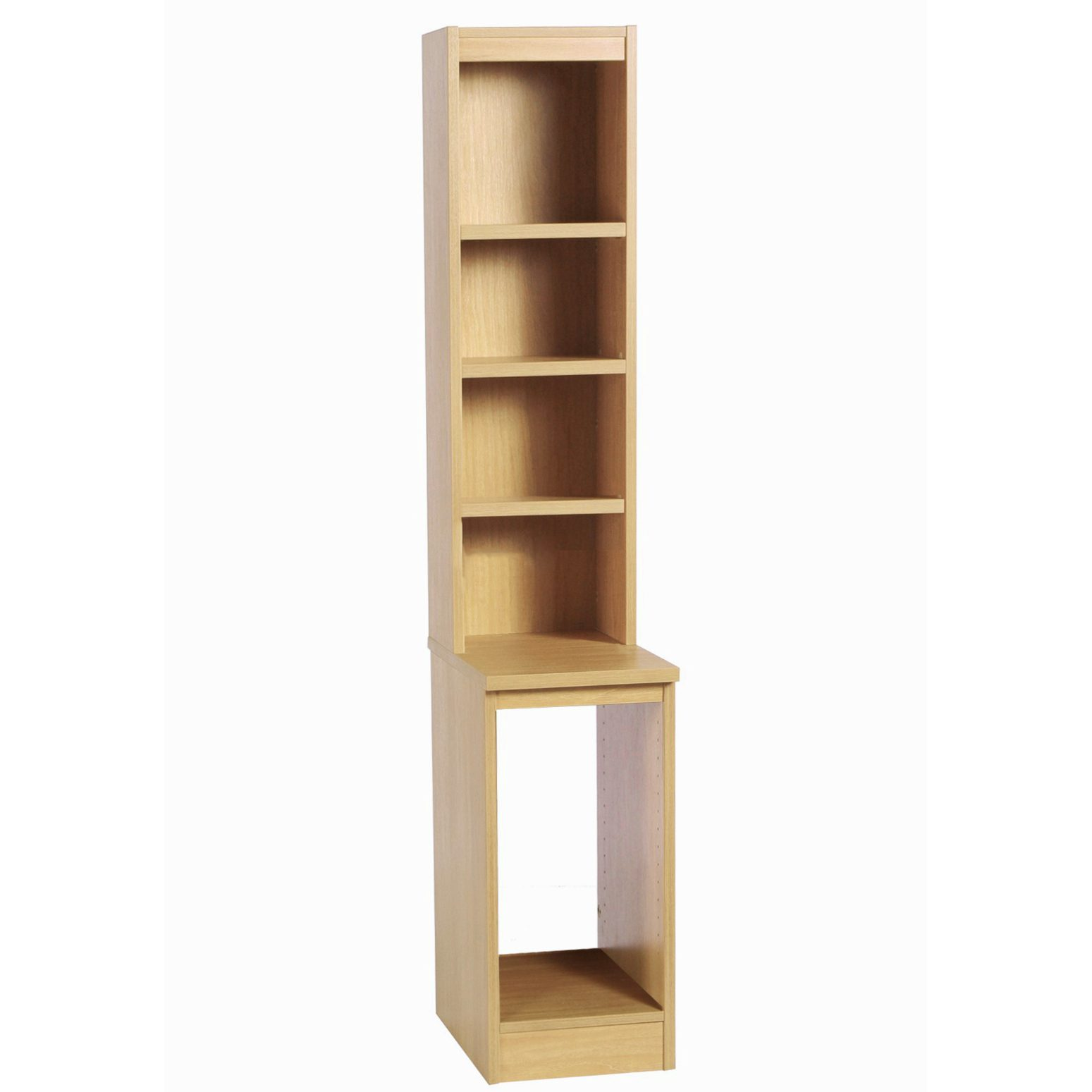 Desk Height Cpu Computer Tower Storage With Hutch Bookcase