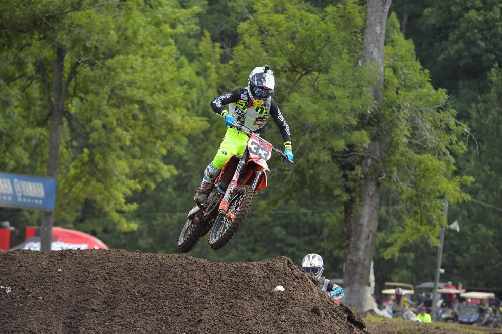 Derek Drake has earned two out of the three moto wins thus far in the week.